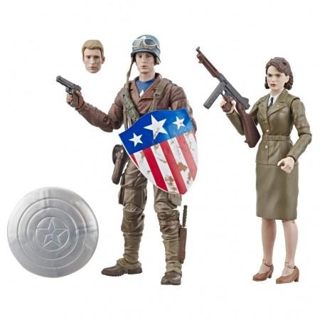 Marvel Legends The First Avengers Capitán América & Peggy Carter 2 Pack
