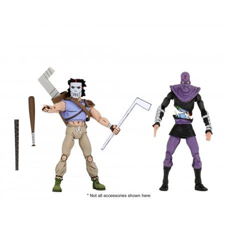 NECA Teenage Mutant Ninja Turtles Casey Jones & Foot Soldier TMNT Action Figure 2 Pack