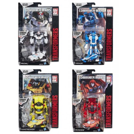 Transformers Combiner Wars Ironhide Sunstreaker Mirage Prowl Set of 4