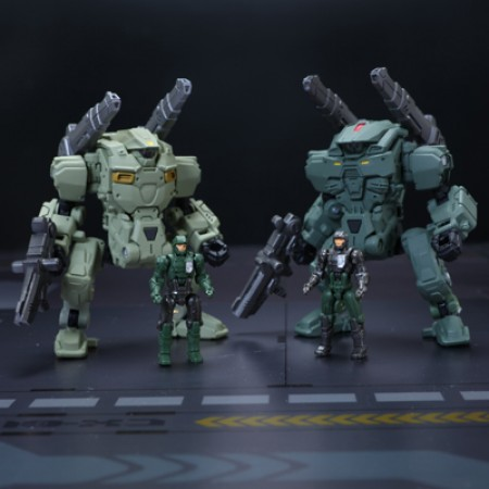 Diaclone DA-05 Powered Suits A & B Cosmic Marine Version