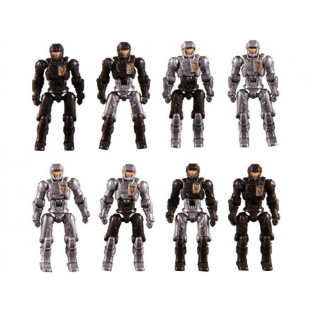 Diaclone Reboot DA-04 Dai-Naughts ( Black ) Set of 8