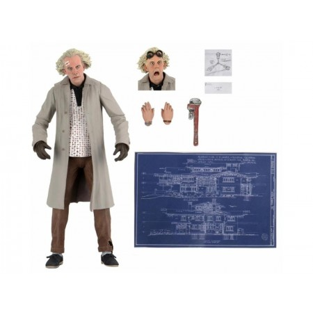 NECA Back To The Future Ultimate Doc Brown Action Figure