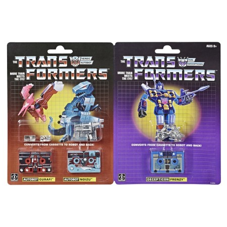 Transformers G1 Reissue Dino Cassette 3 Pack Noizu, Gurafi & Frenzy