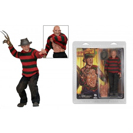 NECA Nightmare On Elm Street Part 3 Retro Clothed Freddy Krueger Action Figure