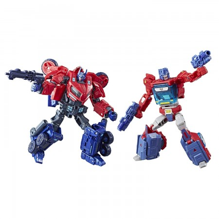 Transformers Evolution Of Optimus Prime 2 Pack