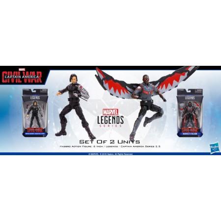 Marvel Legends Civil War Falcon & Winter Soldier Set of 2