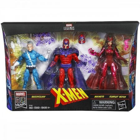Marvel Legends Family Matters 3 Pack Magneto Quicksilver & Scarlet Witch NON MINT