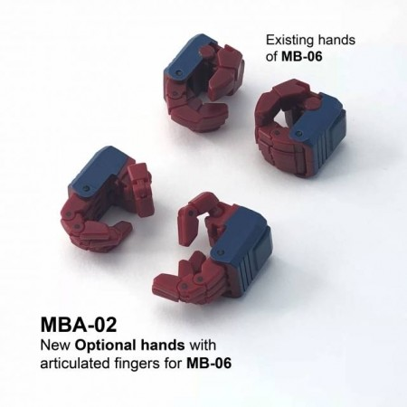 Fans Hobby MBA-02 Articulated Hands For Power Baser