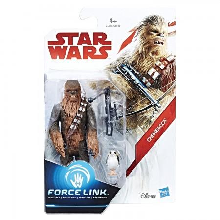 Star Wars Force Link 3.75 Inch Chewbacca & Porg ( The Last Jedi )
