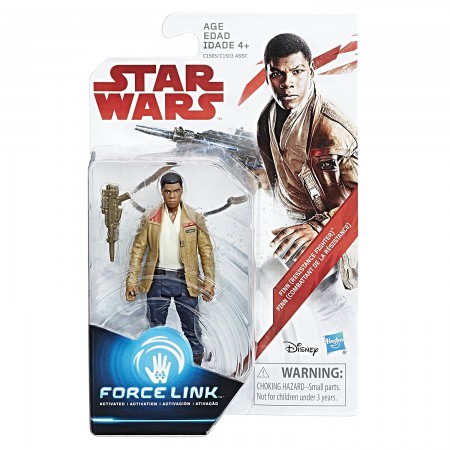 Star Wars Force Link 3.75 Inch Finn Resistance Fighter ( The Last Jedi )