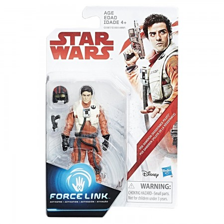 Star Wars Force Link 3.75 Inch Poe Dameron Pilot ( The Last Jedi )