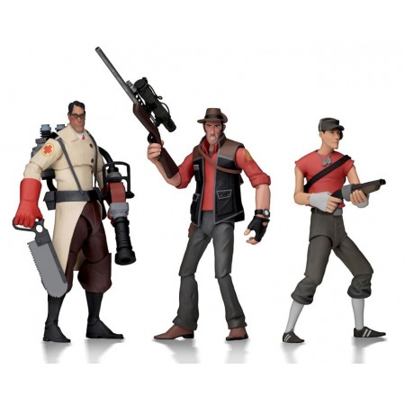 NECA Team Fortress 2 Series 4 RED Set of 3