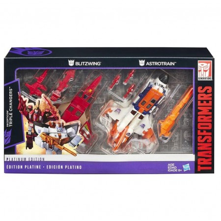 Transformers Platinum G1 Astrotrain & Blitzwing 2 Pack
