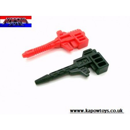 Transformers G1 Battlechargers Runabout & Runamuck Guns Set of 2