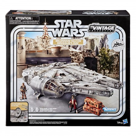 Star Wars Vintage Collection Galaxy's Edge Millennium Falcon Vehicle with Hondo and Chewie