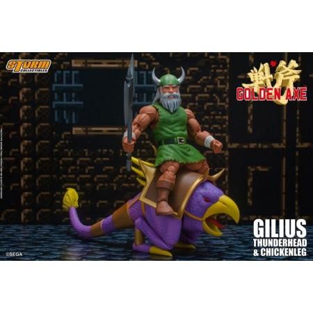 Golden Axe Gilius Thunderhead and Chicken Leg Storm Colectibles 1/12 Action Figure