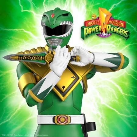 Super7 Mighty Morphin Power Rangers Green Ranger Ultimates Action Figure