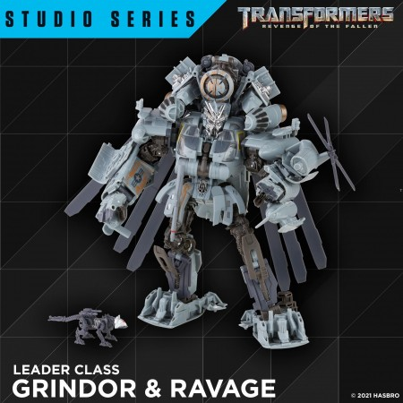 Transformers Studio Series SS-73 Grindor and Ravage Leader Class Action Figure