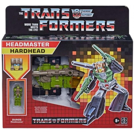 Transformers Retro Headmaster Hardhead and Duros