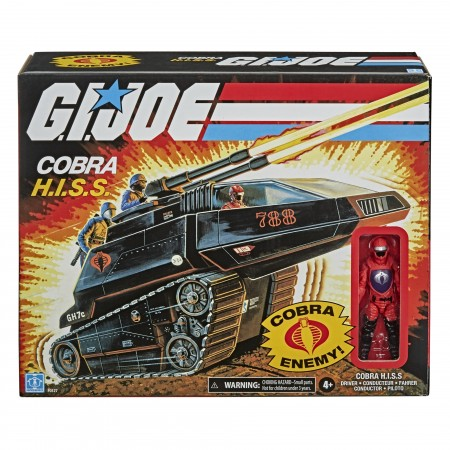 G.I. Joe Retro 3.75 Inch Cobra H.I.S.S Tank & Driver Vehicle