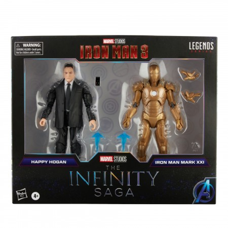 Marvel Legends Infinity Saga Happy Hogan and Iron Man Mark 21 Action Figure 2 Pack