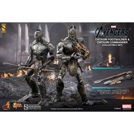 Hot Toys The Avengers Chitauri Commander & Foot Soldier 2 Pack