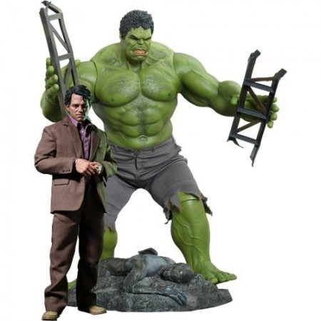 Hot Toys The Avengers Hulk & Bruce Banner 1/6 Scale Action Figure Set