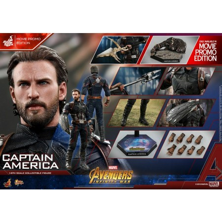 Hot Toys Infinity War Captain America Movie Promo 1/6th Scale Figure