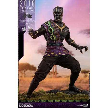 Hot Toys Black Panther T'Chaka TOYFAIR EXCLUSIVE 1/6th Scale Action Figure