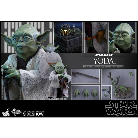 Hot Toys The Empire Strikes Yoda 1/6 Scale Action Figure