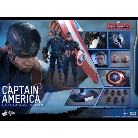 Hot Toys Civil War Captain America 1/6 Scale Figure