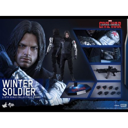 Hot Toys Civil War Winter Soldier 1/6 Scale Figure