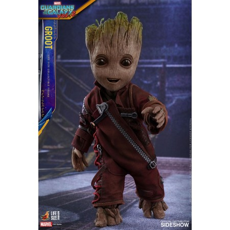 Juguetes calientes de guardianes de la galaxia Vol 2 Lifesize Groot escala 1/6 figura