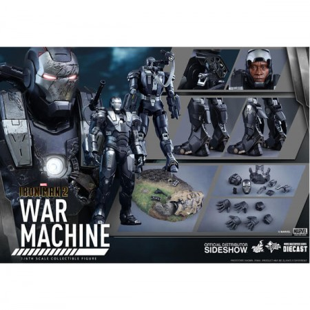 Hot Toys Iron Man 2 Diecast War Machine 1/6 Scale Figure