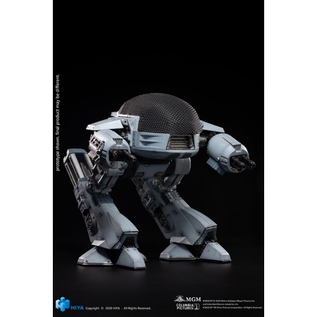 Hiya Toys Robocop Exquisite Mini Action Figure with Sound Feature 1/18 ED209 15 cm