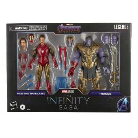 Marvel Legends Infinity Saga Iron Man Vs Thanos 2 Pack