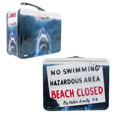 Jaws No Swimming Retro Metal Lunch Tin