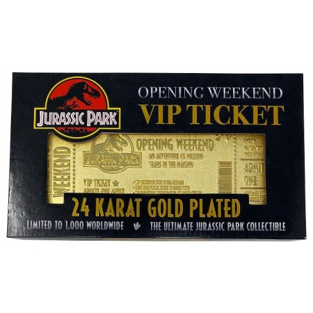 Jurassic Park Opening Weekend Golden Ticket 1/1 Replica