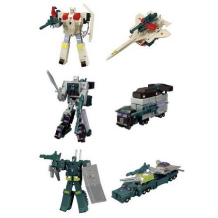 Transformers Kabaya Trading Series Motor Master, Silverbolt, Onslaught Set of 3