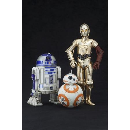 Star Wars The Force Awakens: Kotobukiya ArtFX+ Statues: Droid Triple Set