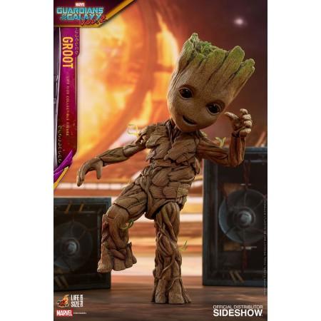 Juguetes calientes vida tamaño bebé Groot con figura de altavoces