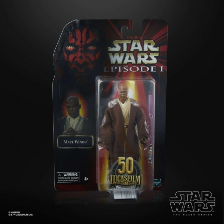 Star Wars The Black Series Mace Windu Lucasfilm 50th Exclusive Action Figure