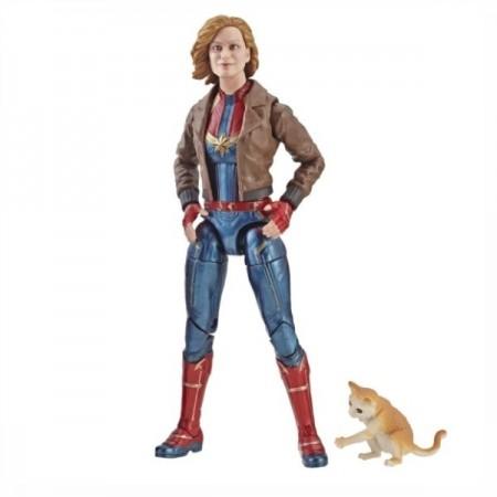 Marvel Legends Captain Marvel Captain Marvel & Bomber Jacket with Goose the Cat