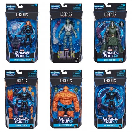 Marvel Legends Fantastic 4 Super Skrull BAF Set of 6