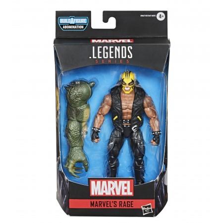 Marvel Legends Rage Figura de acción de 6 pulgadas ( Abominación BAF )