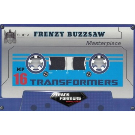 Transformadores obra maestra MP-16 Frenzy y moneda de Sierra