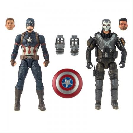 Marvel Legends Cinematic Universe Captain America Vs Crossbones 2 Pack