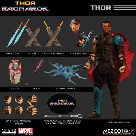 Mezco One:12 Collective Thor Ragnarok Thor Action Figure