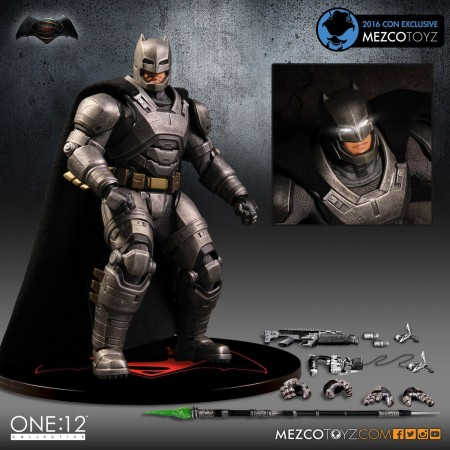 Mezco One:12 Collective SDCC Armoured Batman Figure