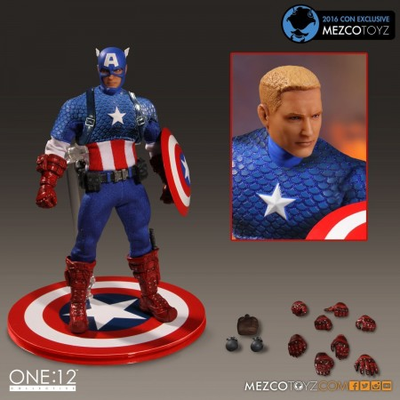 Mezco One:12 Collective SDCC Captain America Classic Costume Figure